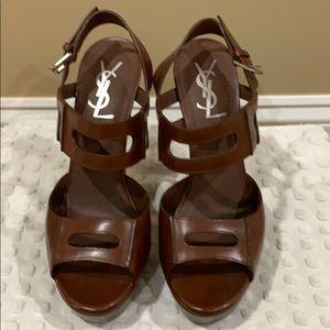 YSL brown heels